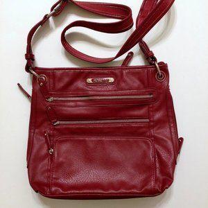 Rosetti| red zipper crossbody shoulder bag